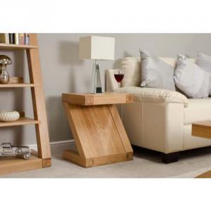 Z Oak Designer Lamp Table