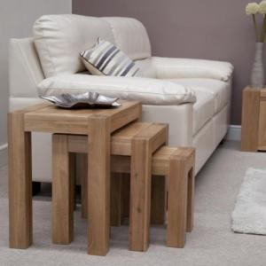 Trend Oak Nest of Tables
