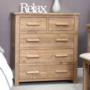 Opus Oak 2 Over 3 Drawer Chest