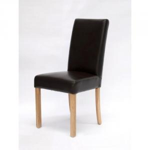 Marianna Bycast Brown Leather Dining Chair