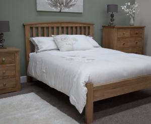 MilanoOpus Oak 46quot Double Arched Bed