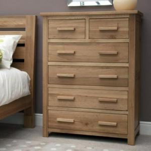 Opus Oak 2 Over 4 Drawer Chest