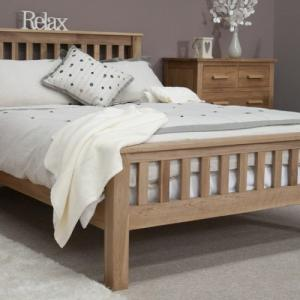 Opus Oak 46quotDouble Rail Bed