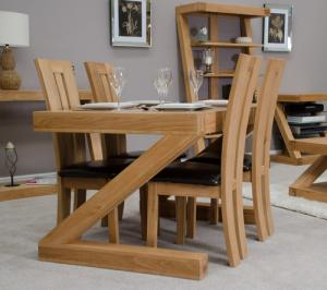 Z Oak Designer 4 X 3 Dining Table