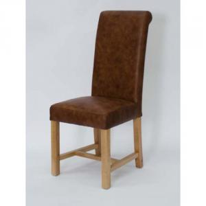 Henley Full Leather Espresso Dining Chair