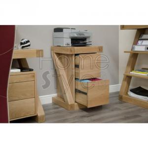 Z Designer Oak Filing Cabinet