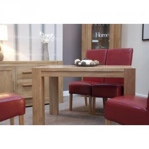 Trend Oak Small Dining Table Corner Legs