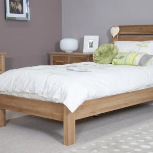 Trend Oak 46quot Double Slatted Bed