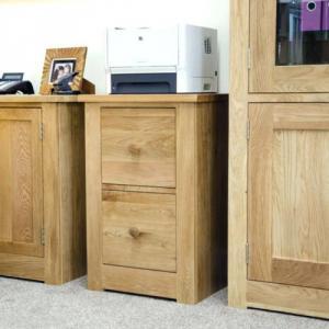 Torino Oak 2 Drawer Filing Cabinet