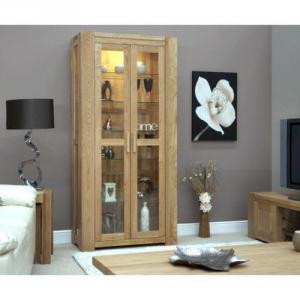Trend Oak 2 Door Glass Display Unit