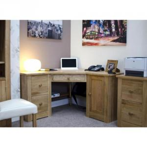 Torino Oak Corner Desk