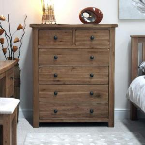 Rustic 2 Over 4 Drawer Chest