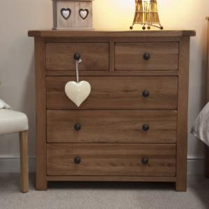 Rustic 2 Over 3 Drawer Chest