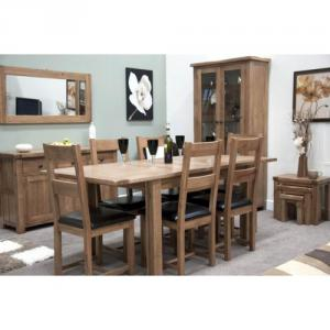 Rustic Twin Leaf Extending Dining Table
