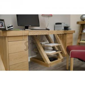 Z Designer Oak Large Desk