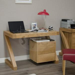 Z Designer Oak Small Desk