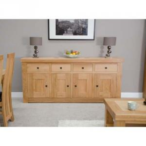 Bordeaux Oak 4 DoorDrawer Sideboard