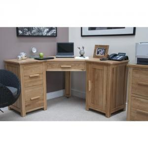 Opus Oak Corner Desk