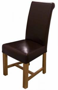 Louisa Bycast Brown Leather Dining Chair