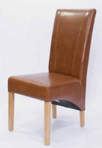 Contempo Tan Bonded Leather Dining Chair