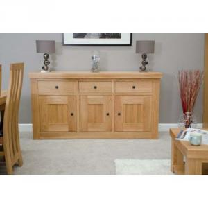 Bordeaux Oak 3 DoorDrawer Sideboard