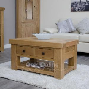 Bordeaux Coffee Table with Drawers  Shelf